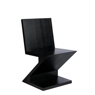 Zig Zag Accent Chair in Black Preview