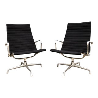 Eames for Herman Miller Aluminum Group Lounge Chairs - A Pair