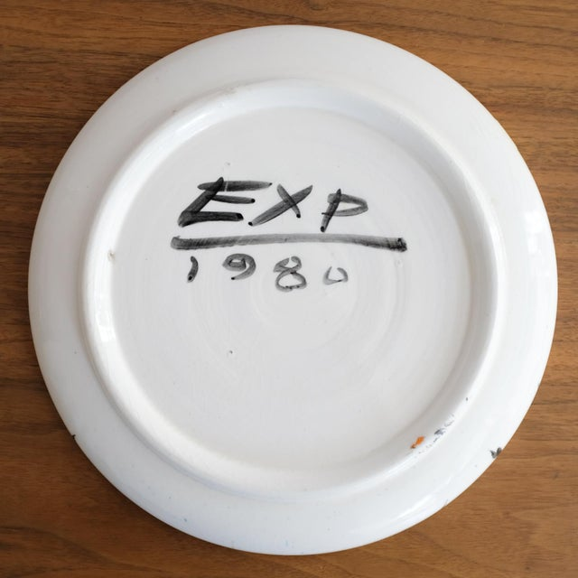Ceramic Postmodern Peter Shire Ceramic Plate 1980 Memphis For Sale - Image 7 of 8