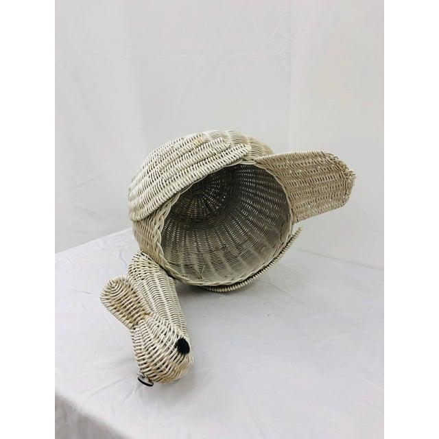 Vintage Woven Wicker Swan Bird Basket For Sale - Image 10 of 11