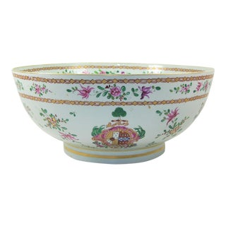 19th Century French Samson Porcelain Punch Bowl For Sale