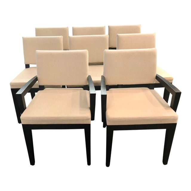 Modern Desiron Dining Chairs - Set of 8 For Sale