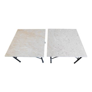 1960s W & Z Italian Marble Coffee Table/Accent Tables - a Pair For Sale