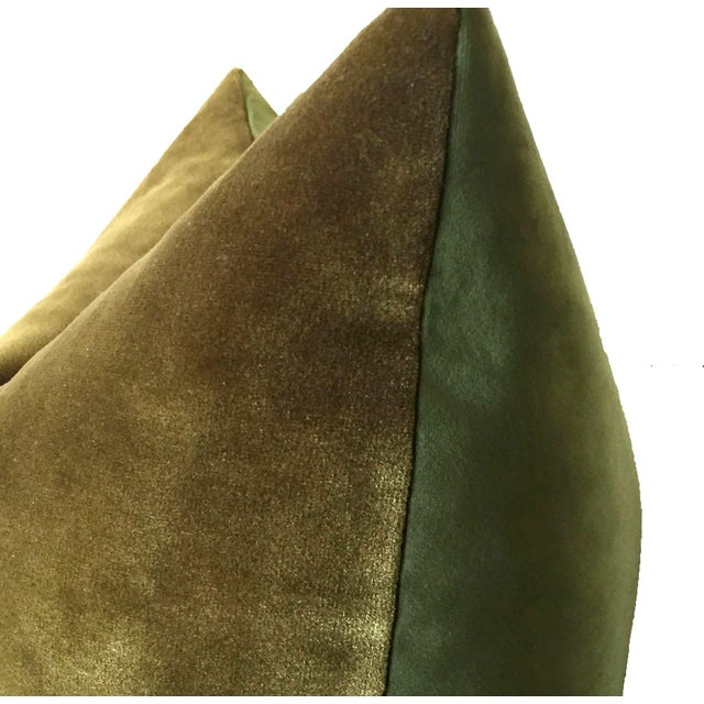 Two-Tone Green Pillow For Sale - Image 4 of 4