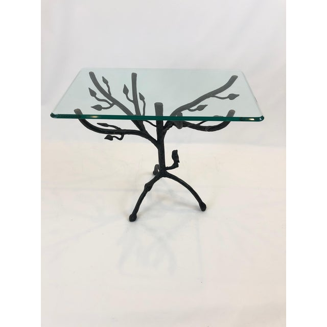 Giacometti Style Iron Based Side Table For Sale In Philadelphia - Image 6 of 7