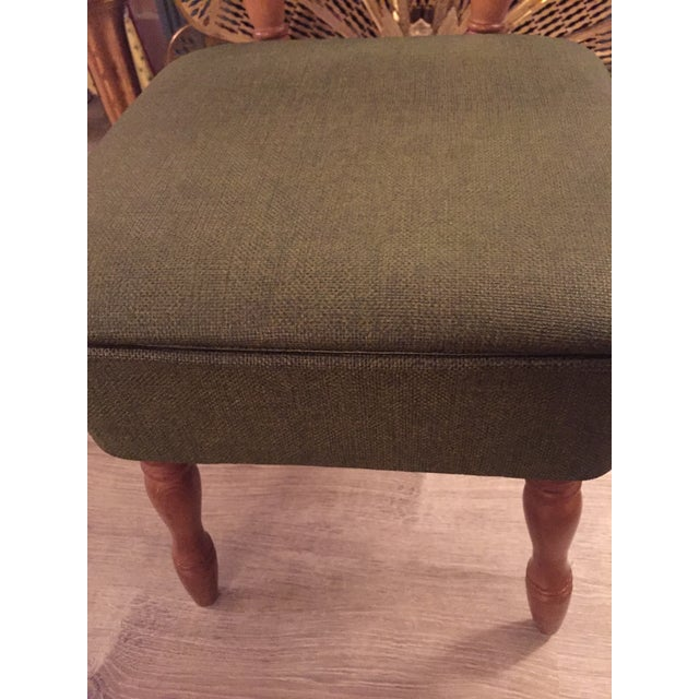 Vintage Vinyl Sewing Hassock Stool For Sale - Image 5 of 7