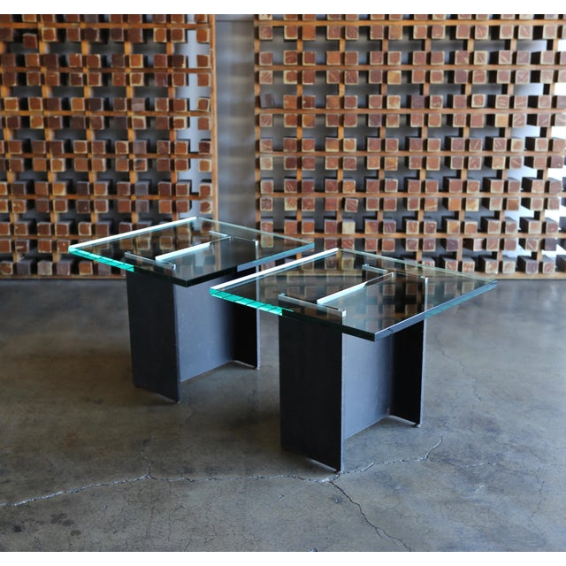 Gerald McCabe I Beam Side Tables Circa 1965 - a Pair For Sale - Image 9 of 13