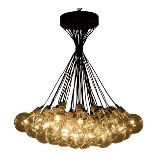 Populated Chandelier With Bronze Accents For Sale