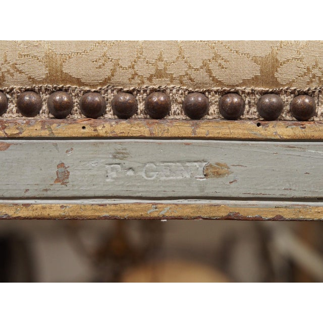 18th Century Set of Six Transition Armchairs Stamped F.Geny For Sale - Image 11 of 11