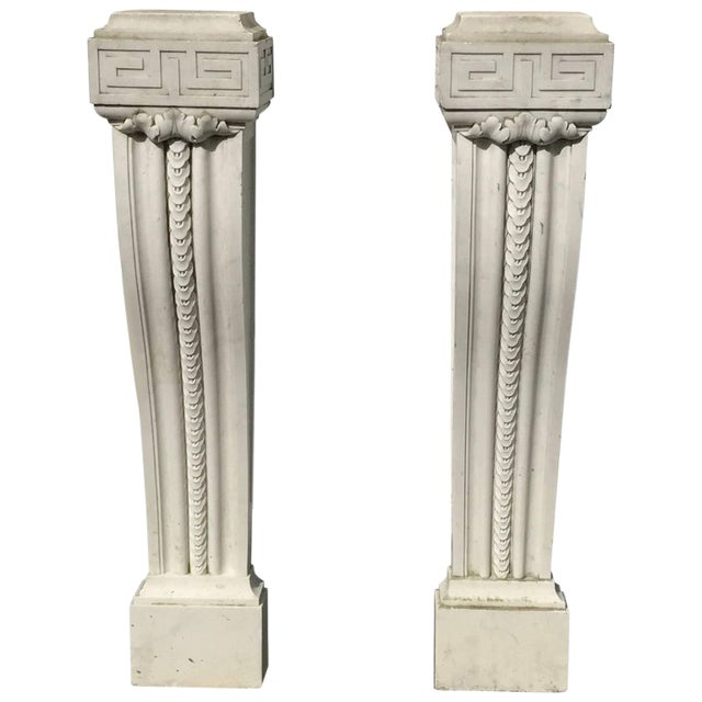 19th Century English Regency Marble Plinths or Pedestals - a Pair For Sale
