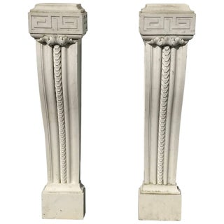 Pair of 19th Century English Regency Marble Plinths or Pedestals For Sale