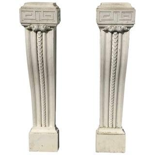Pair of 19th Century English Regency Marble Plinths or Pedestals