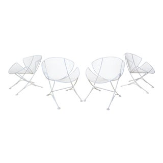 1950s Vintage Maurizio Tempestini for Salterini Clam Shell Patio Chairs- Set of 4 For Sale