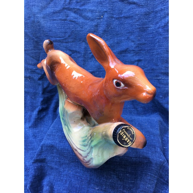 French Ceramic Rabbit Decanter For Sale - Image 5 of 7