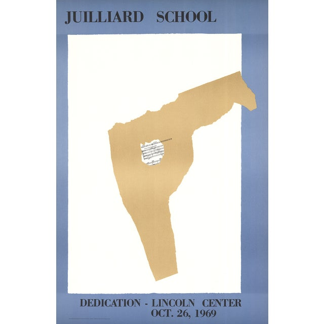 Published in 1969 by the Lincoln Center to announce the opening of the Juilliard School. About only 500 of these posters...