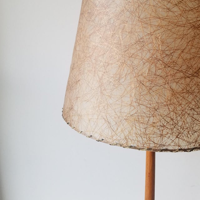 Mid-Century Modern Swedish Teak Table Lamp by George Kovacs For Sale In Seattle - Image 6 of 9