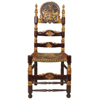 Vintage Spanish Colonial Ladderback Chair