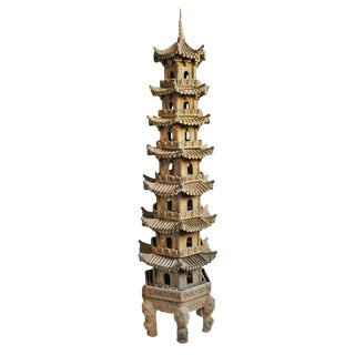 Terra Cotta Garden Pagoda For Sale