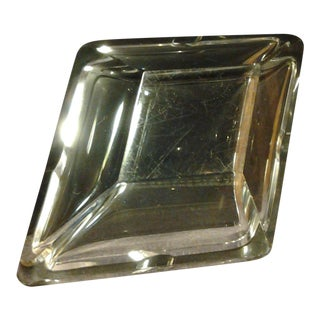 Heavy Diamond Shaped Cut Crystal Ashtray