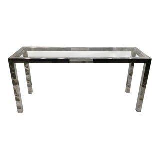 Chrome and Glass Parsons Table