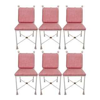Painted Metal Dining Chairs - Set of 6 For Sale