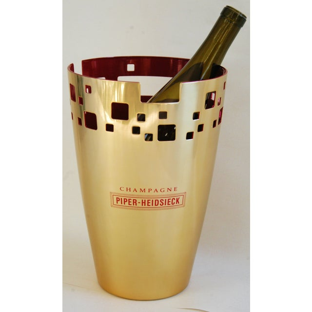 Gold Piper-Heidsieck Champagne Bucket Chiller For Sale - Image 8 of 11