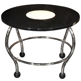 1940s Bauhaus Black Lacquer Coffee Table For Sale