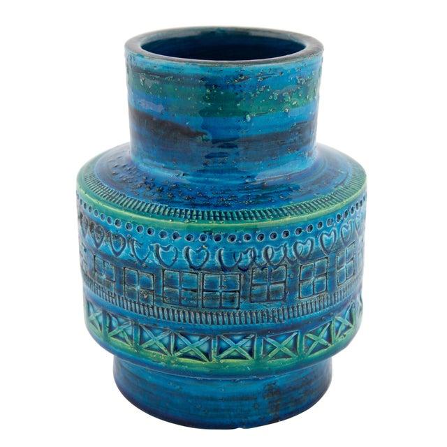 """""""Rimini Blu"""" Ceramic Vase by Aldo Londi for Bitossi, Circa 1960s For Sale - Image 10 of 10"""