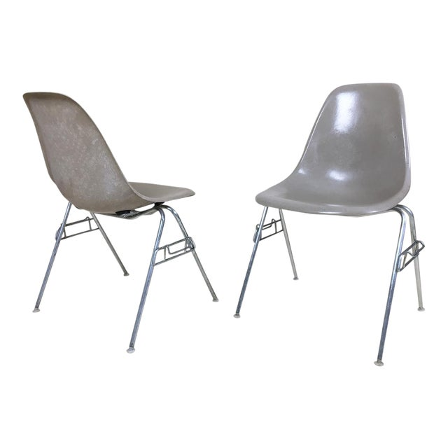 1960s Eames Shell Stacking Chairs - A Pair - Image 1 of 6