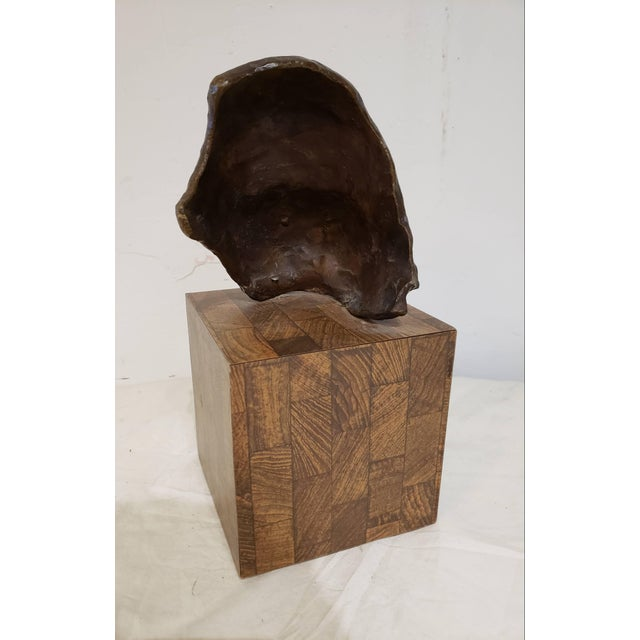 Mid-Century Modern Vintage Childs Face Bronze Sculpture For Sale - Image 3 of 6