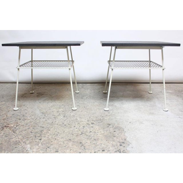 Pair of Slate and Iron Tables by Russell Woodard - Image 4 of 11