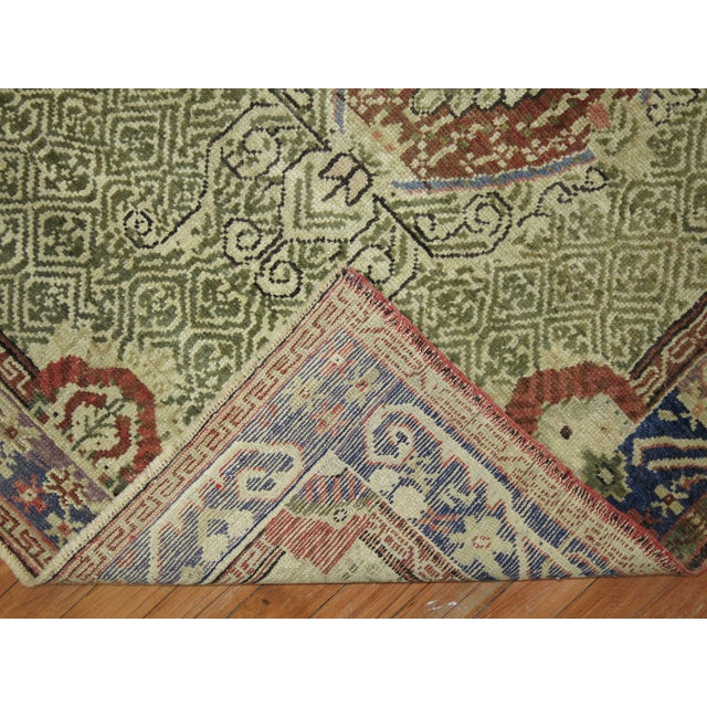 Textile Antique Turkish Ghiordes Rug - 3'6'' x 5'3'' For Sale - Image 7 of 7