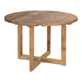 Sarreid LTD Antique Wood Top Barnyard Table