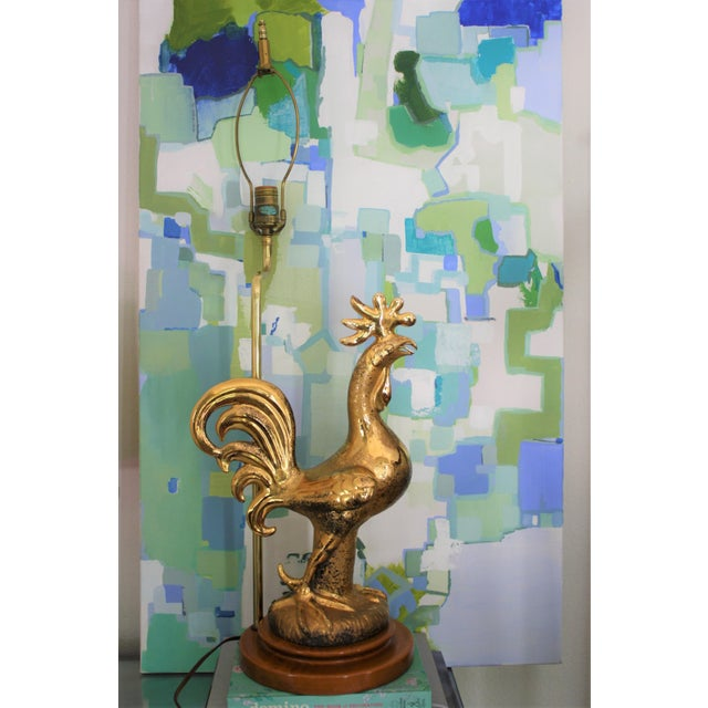 Mid-Century Signed Sascha Brastoff Rooster Lamp With Original Shade For Sale - Image 11 of 11