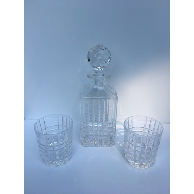 Tiffany & Co. Plaid Decanter & Old Fashion Glasses - Set of 3 For Sale In Chicago - Image 6 of 8