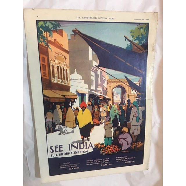 Boho Chic 1935 'See India' Lahore Scene Ad For Sale - Image 3 of 11