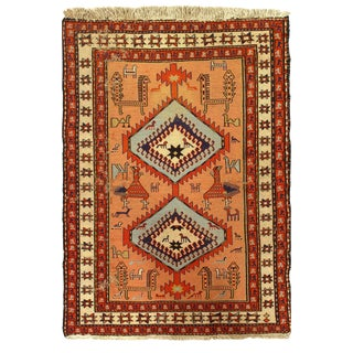 Pasargad Vintage Persian Soumak Rug - 4′ × 6′ For Sale