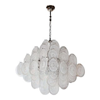 Ultra Chic Murano Glass Disc Vistosi Chandelier For Sale