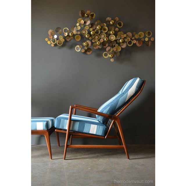 Danish Modern 1960s Vintage I.B. Kofod Larsen for Selig Reclining Chair & Ottoman - 2 Pieces For Sale - Image 3 of 12