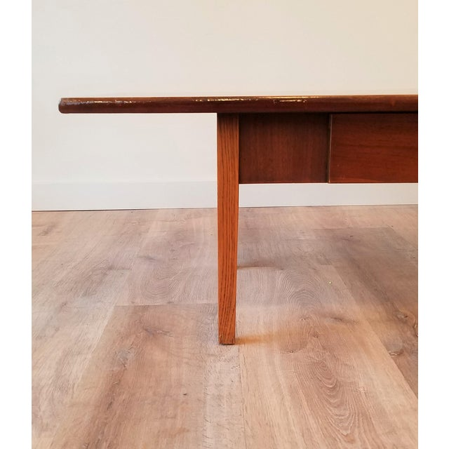 Stanley Teak Surfboard Coffee Table With Drawer For Sale In Seattle - Image 6 of 8