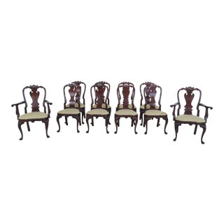 Stickley Colonial Williamsburg Mahogany Dining Room Chairs - Set of 10 For Sale