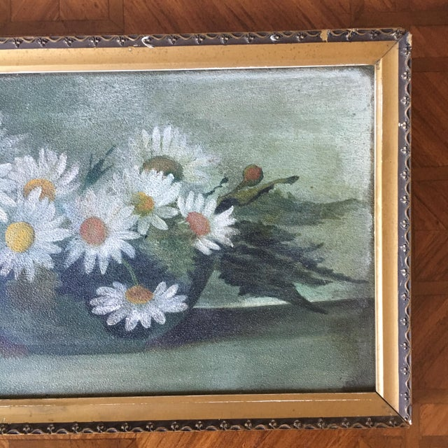 Vintage Painting of Daisies For Sale - Image 4 of 6
