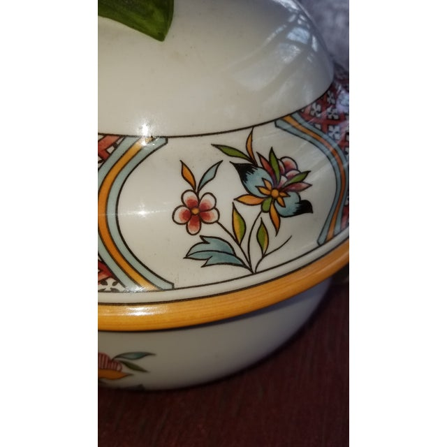 Pretty tureen or Centerpiece made in Germany by Villeroy and Boch. Pattern is Normandie. Excellent quality as you would...