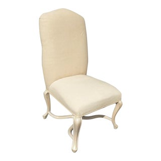 Vintage Kreiss Collection French Country White Accent Chair For Sale
