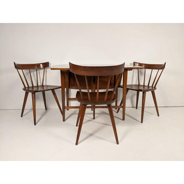 Mid Century Modern Paul McCobb Solid Maple Drop Leaf Dining Set - 7 Pieces For Sale - Image 11 of 13
