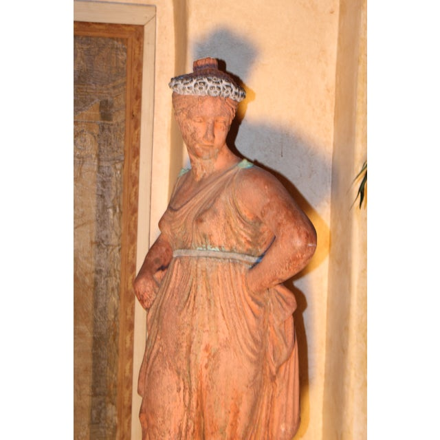 Italian Mid 19th C. English Signed Garden Statuary For Sale - Image 3 of 12