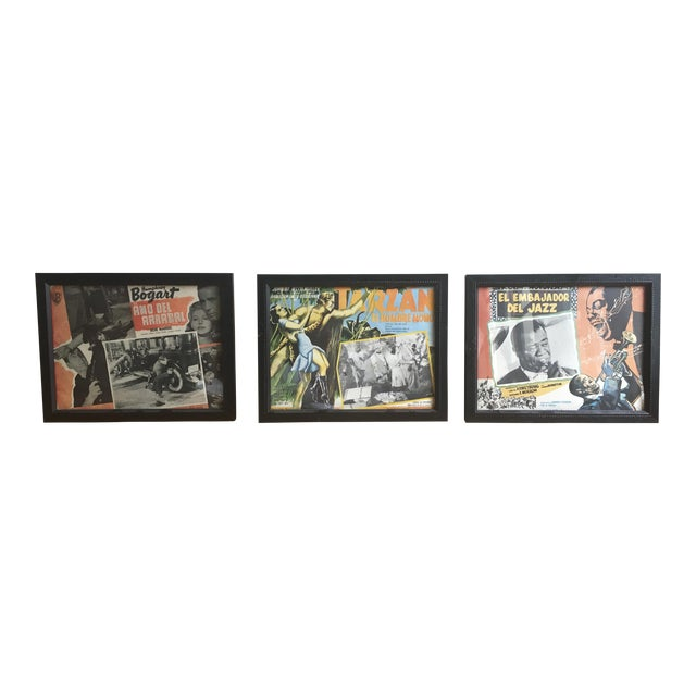 Framed Vintage Spanish Hollywood Movie Posters - Set of 3 - Image 1 of 6