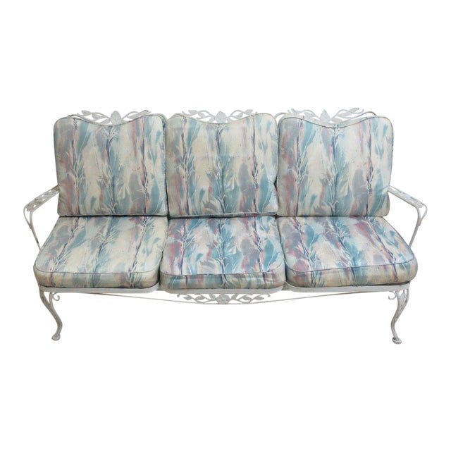 Vintage Outdoor Iron Sofa For Sale