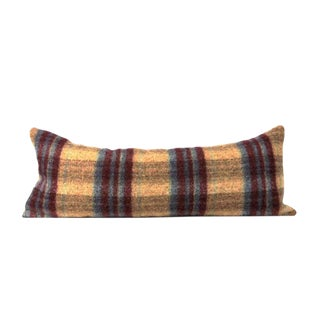 Yellow Tweed Stripe Large Lumbar Pillow