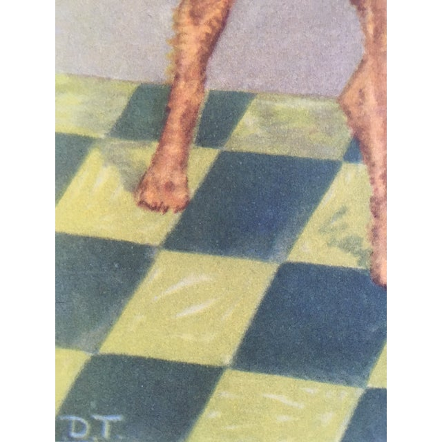 Children's Vintage Diana Thorne Dog Print Airedale Terrier For Sale - Image 3 of 3